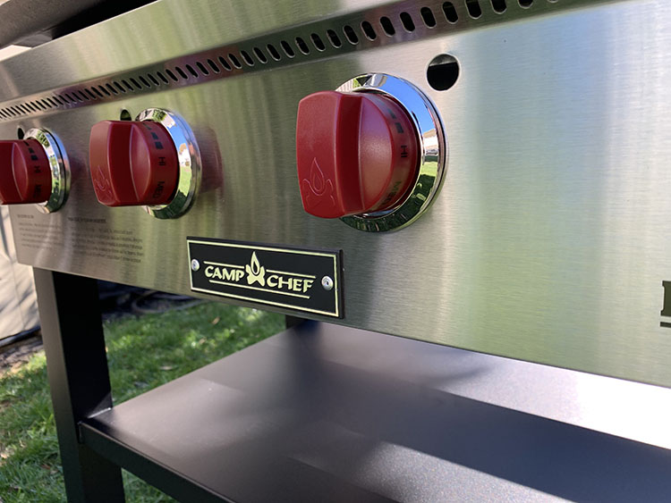 Camp Chef Flat Top Grill burner knobs
