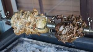 Chicken Souvlaki and Lamb Gyros