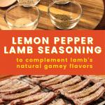 Lemon pepper lamb seasoning