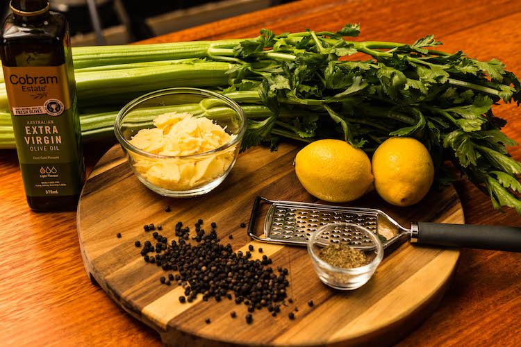 celery and parmesan salad ingredients