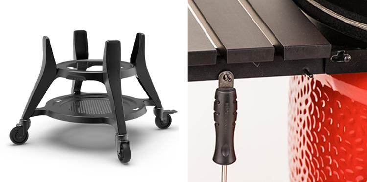 kamado joe heavy-duty cart and side shelf