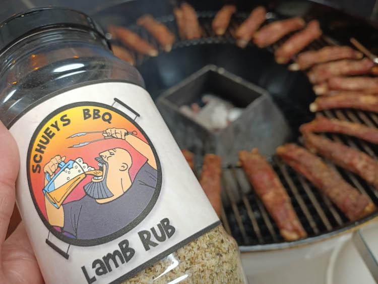 lamb seasoning in a rub shaker