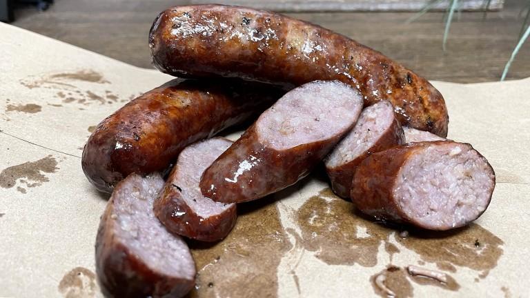 Smoked Irish Bangers with Mashed  Potatoes