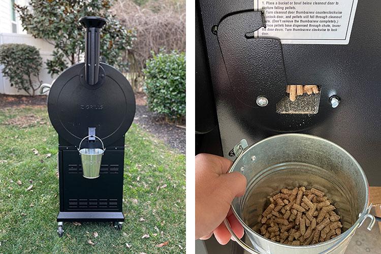 z grills 700d3 grease bucket and pellet cleanout door