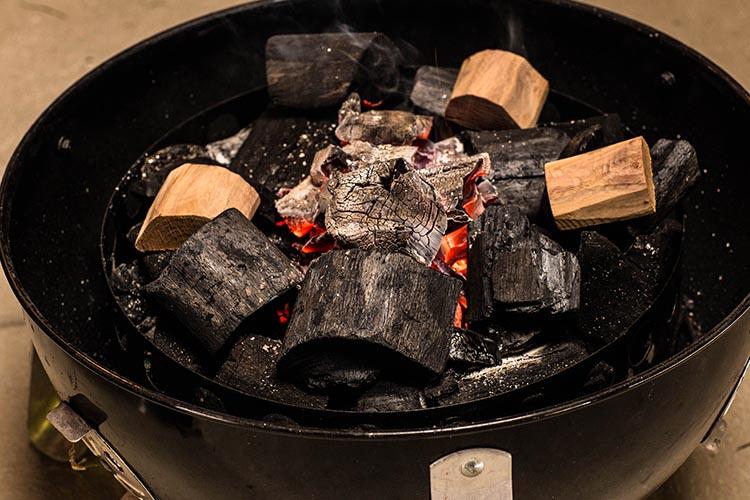 Weber Smokey Mountain minion method set up