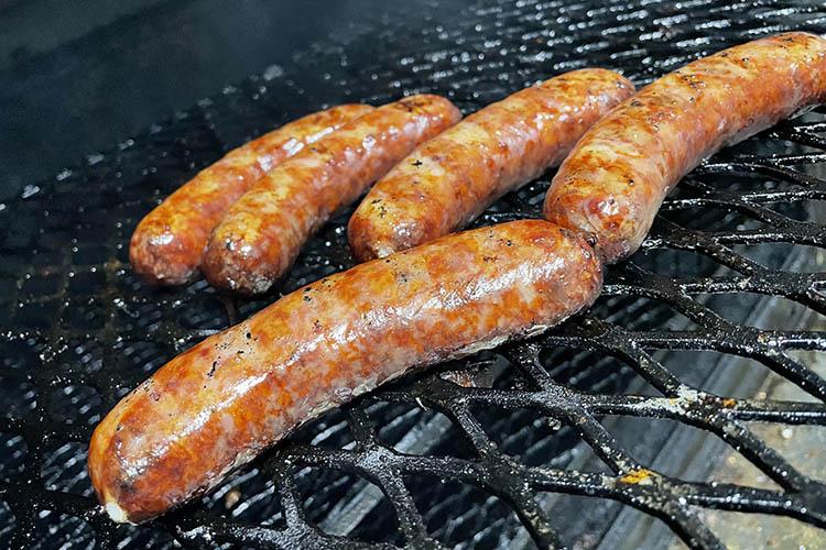 Irish sausage in a smoker