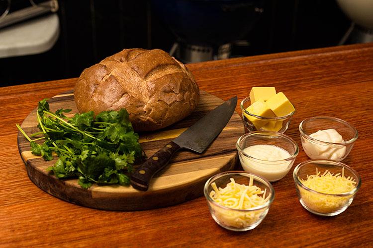 brazilian cilantro garlic bread ingredients