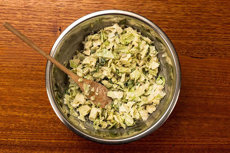 creamy sweet slaw in a bowl