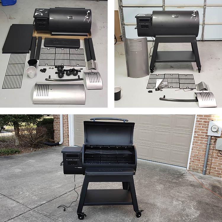 assembling Louisiana grills black label pellet grill