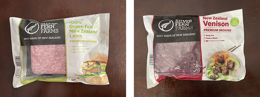 silver fern farms ground lamb and venison packaged