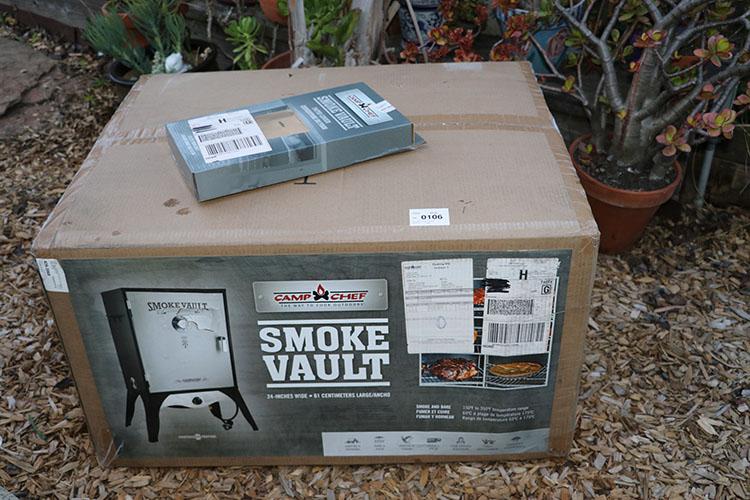 Camp Chef Smoke Vault 24 packaging