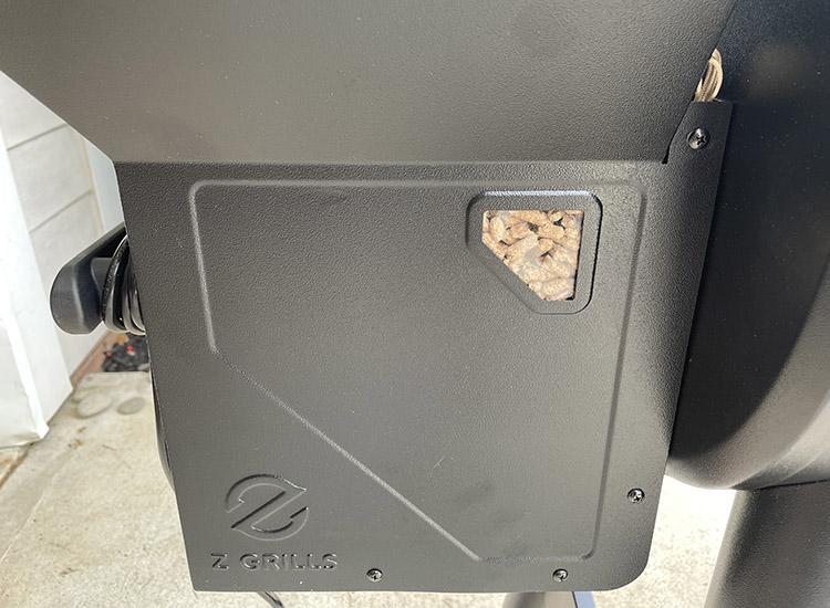 z grills 450b pellet hopper window