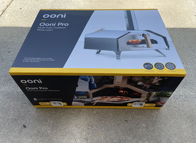 Ooni Pro 16 Pizza Oven packaging