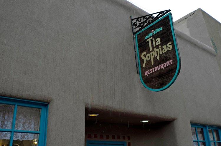 Tia Sophia's restaurant sign
