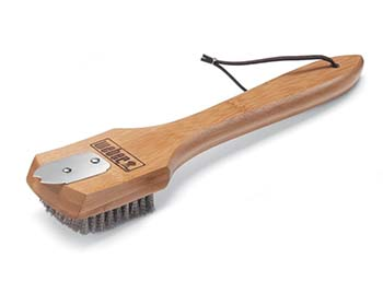 Weber Bamboo Grill Brush & Scraper With 12-Inch Handle