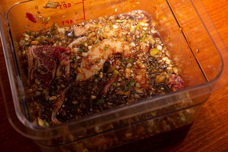beef ribs in Korean BBQ marinade