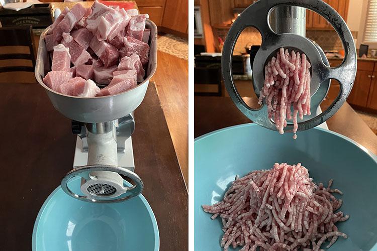 grinding pork meat! your maker grinder
