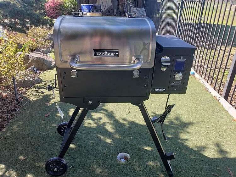 Camp Chef Pursuit 20 portable pellet grill