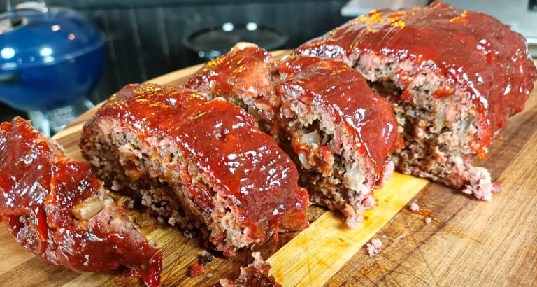 Smoked Meatloaf With Homemade BBQ Glaze
