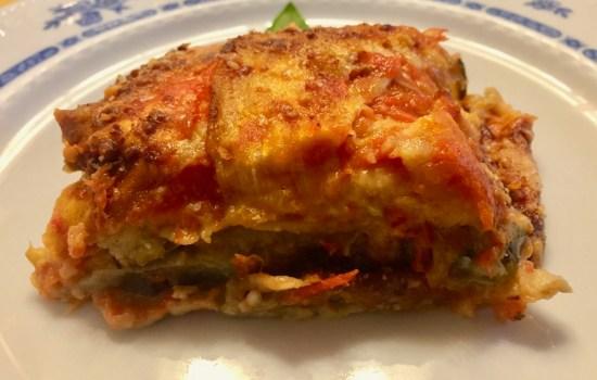 Melanzane alla parmigiana – Aubergine, tomato and parmesan bake