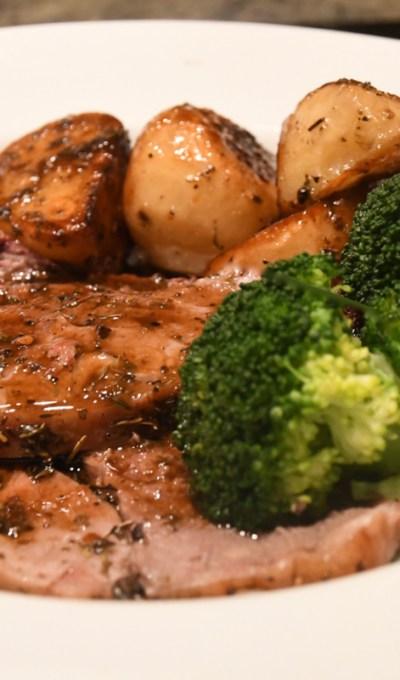 Greek Lamb and Roast Potatoes