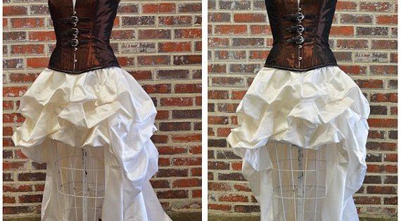 Custom Dress-Steampunk Wedding Gown-steampunk Prom-bustle