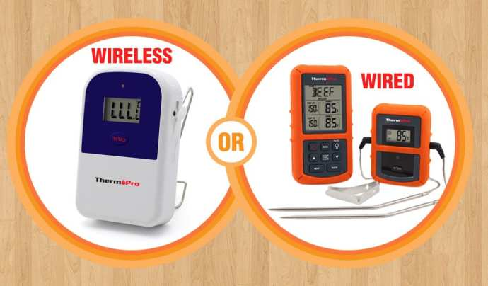 Wired or wireless thermometer