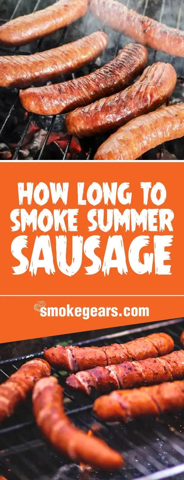 how long to smoke summer sausage