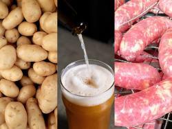 salsicce e patate al forno alla birra