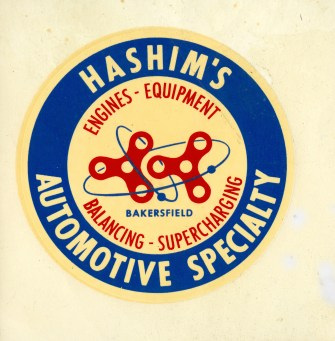 Hashim Decal from 50's