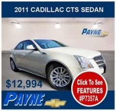 Payne 2011 Cadillac CTS Sedan P7357A 288
