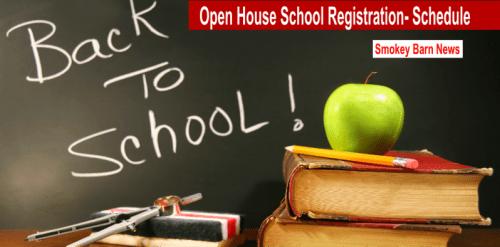 Back to school open house schedule