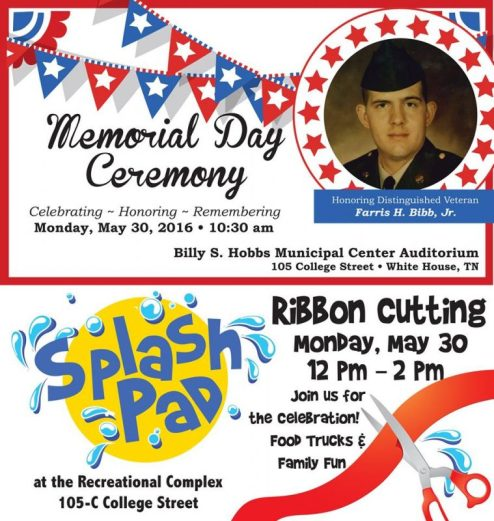 White House memorial day flyer