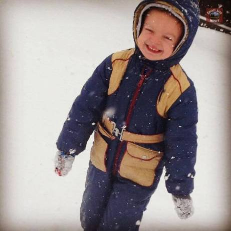 Submitted by Jill Pryor My sweet 5 year old enjoying his snow day!