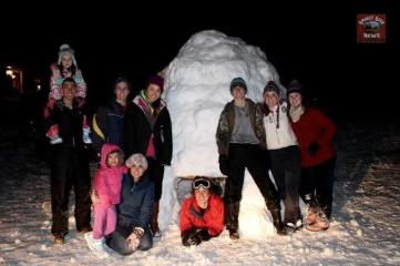 Submitted by Evan Stewart - My family, friends, and myself built this huge igloo yesterday in Cooperstown TN! I just thought it might be something cool you would like to see!