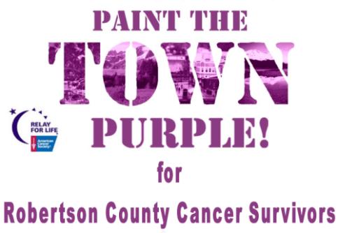 paint the town purple flyer
