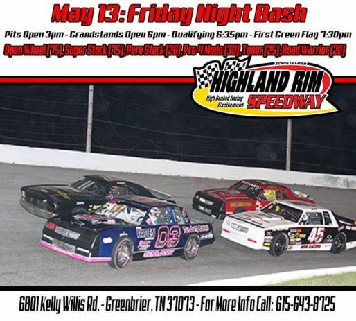 Highland Rim Friday Night bash flyer