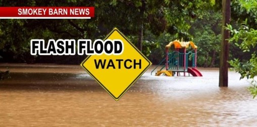 24 Hour Flash Flood Watch Starts at 1AM Tonight