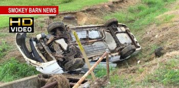Driver Survives Rollover Accident in Greenbrier