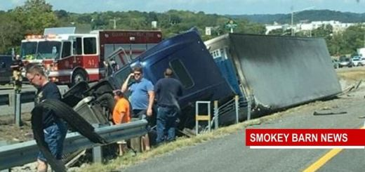 I65 South At Long Hollow Pike Slow After  Tractor Trailer Overturns