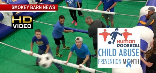 Locals Play Human Foosball For Child Advocates