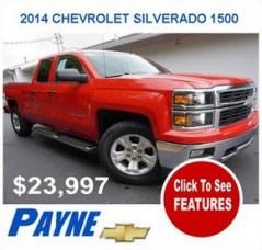 Payne 2014F CHEVROLET SILVERADO 1500 2989133383