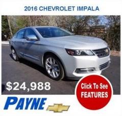 Payne 2016F CHEVROLET Impala 2945745893