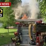 Firefighters Battle Intense Home Fire Near Springfield