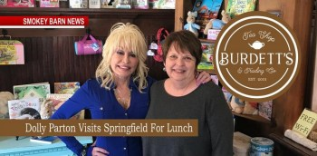 Dolly Parton Visits Burdett's Tea Shop In Springfield