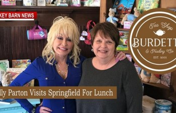 Dolly Parton Visits Burdett's Tea Shop In Springfield