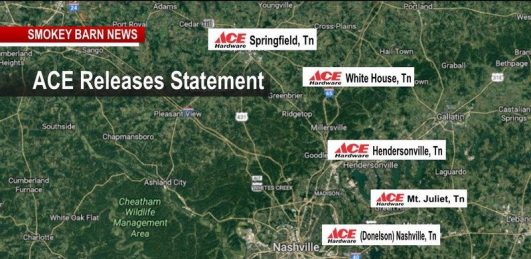 Ace Hardware Corp Releases Statement On Local Closings