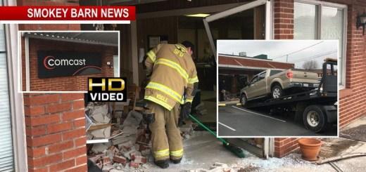 Truck Crashes Into Comcast Lobby Narrowly Misses Teen