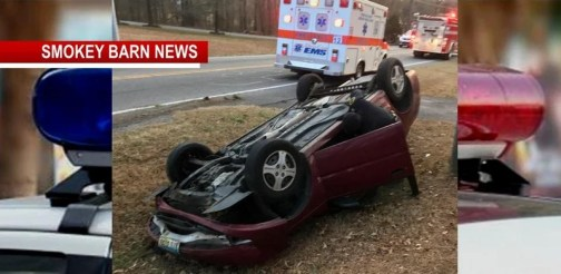 Driver OK After Hwy 49 Rollover Crash Wednesday