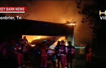 Firefighters Wage War To Save Greenbrier Home
